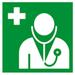 Symbolisches Arztbild zur ärztlichen Betreuung für die Huntington-Krankheit (Chorea Huntington)