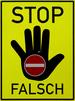 Stop-Schild als Symbol für Irrtümer zur Huntington-Krankheit (Chorea Huntington)