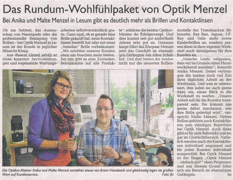 Das Rundum-Wohlfühlpaket von Optik Menzel
