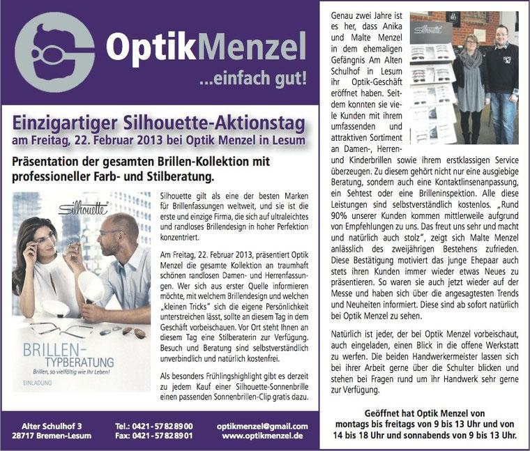 Silhouette Styling Tag - gesamte Silhouette Kollektion bei Optik Menzel