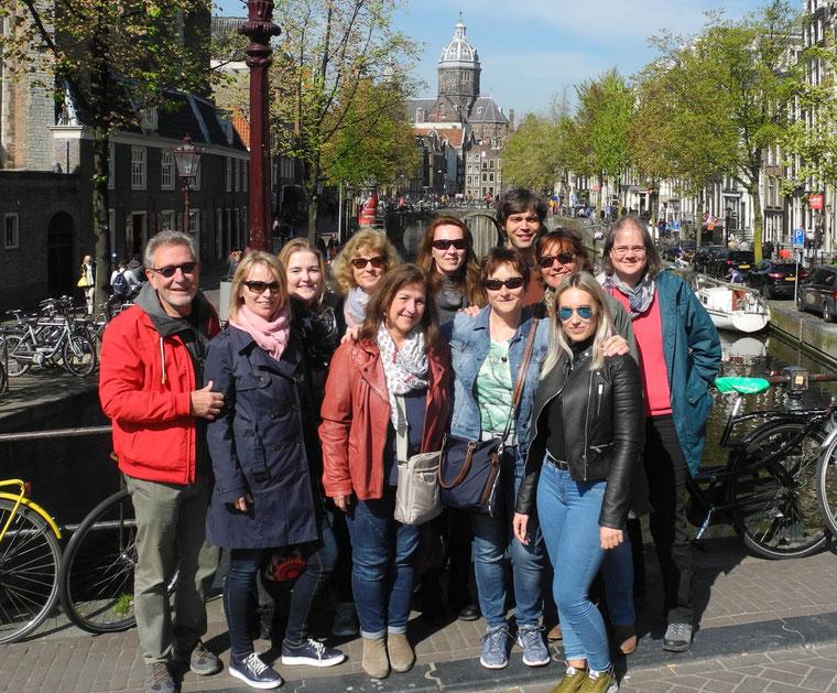 2017 beim Betriebsausflug in Amsterdam