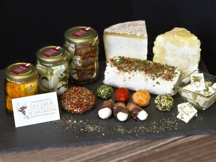Produkte vom Bauernhof Gut Grub & Schiedstein