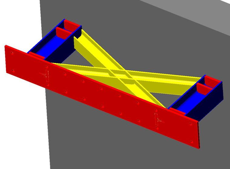 meccanismo isteretico in acciaio per assorbimento e trasferimento azione sismica
