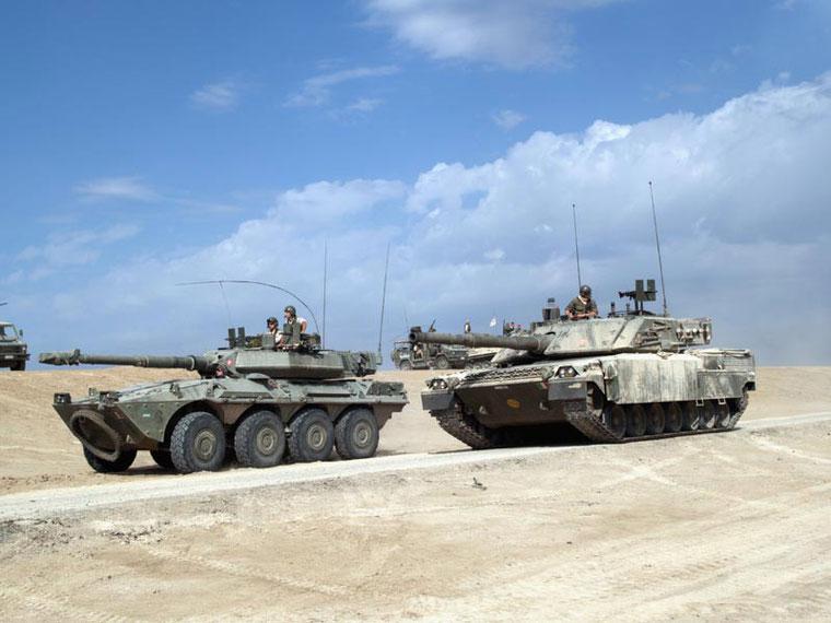 Irak, seul fait d'arme de l'Ariete. Ils seront bien accueillis par le contingent italien au vu de son pouvoir de destruction