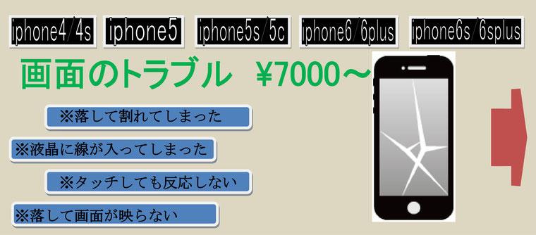 iphone画面のトラブル