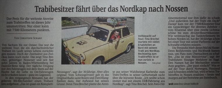 Auch die Sächsische Zeitung war wieder interessiert! Danke Hr. Scharf für Ihren Artikel!