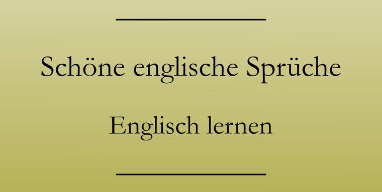 Englische Sprüche lernen