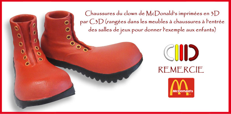 © C3D nc impression 3D - Chaussures McDonald's