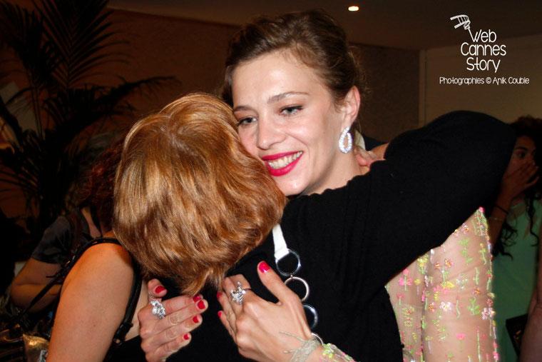 Céline Sallette, lors de la présentation du film «Géronimo» de Tony Gatlif - Festival de Cannes 2014 - Photo © Anik COUBLE