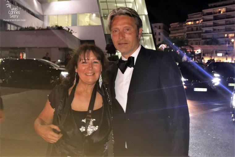 Anik Couble, en compagnie de Mads Mikkeslen, membre du Jury - Festival de Cannes 2016 - Photo © Anik Couble