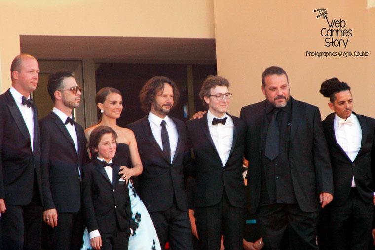 """Montée des marches du film de Natalie Portman :  """" Une histoire d'amour et de ténèbres """", présenté hors compétition-  Festival de Cannes 2015 - Photo © Anik COUBLE"""