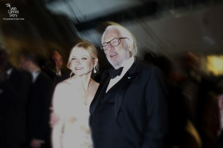 Kirsten Dunst et Donald Sutherland, membres du Jury - Festival de Cannes 2016 - Photo © Anik Couble