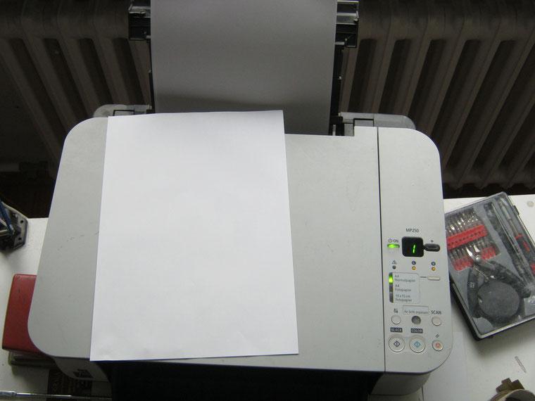 Farbtintenstrahlendrucker Canon MP250, Druckkopf reinigen, Druckfehler beheben, Berlin Steglitz-Zehlendorf, Lichterfelde, Dahlem