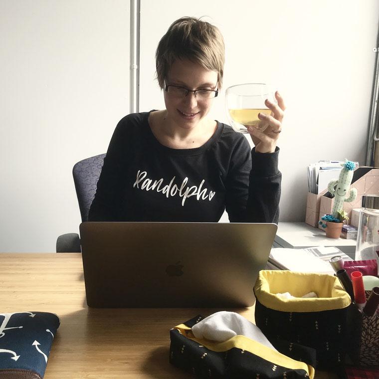 Marie-Ève au travail!