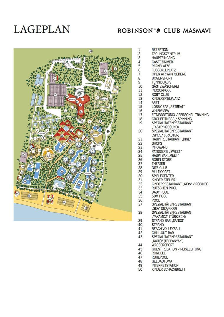 Robinson club masmavi hotel lageplan for Robinson club masmavi