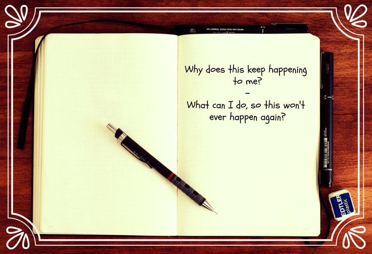 Notebook Notizbuch Questions Fragen Why
