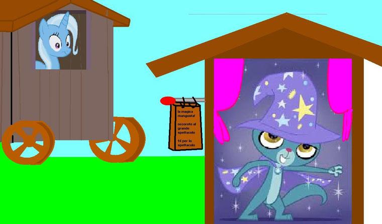 """lo ho fatto io! """"la magica mangusta! occorrete al grande speccatolo  1£ per lo spettacolo"""""""