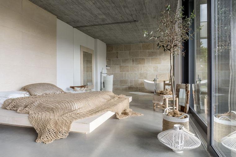Loft Paris - Couleur Pastel - Deco Pastel - Chambre Pastel - Chambre Beige
