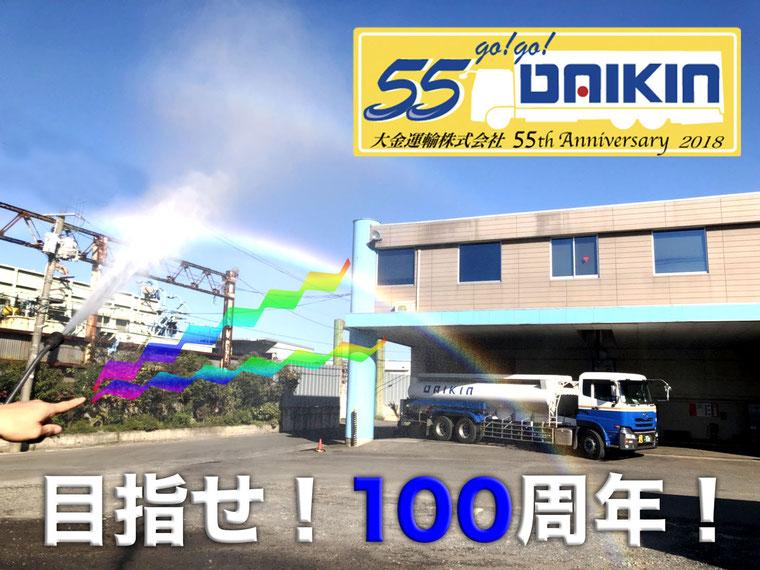 55周年記念画像「目指せ!100周年!」