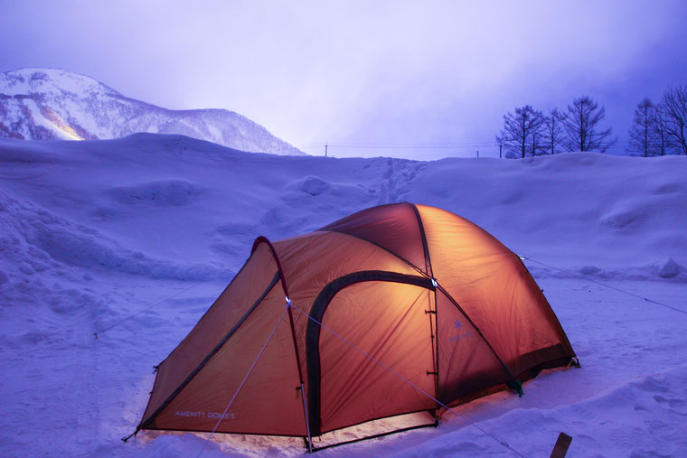 北海道冬キャンプ
