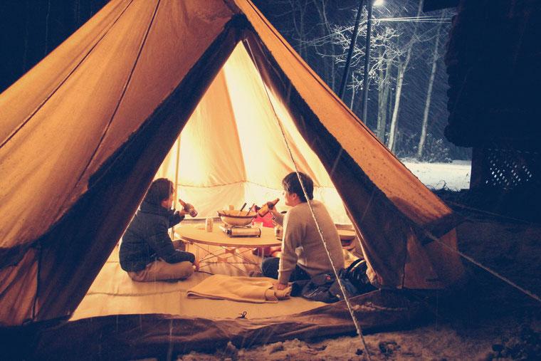 canvascampニセコ冬キャンプ