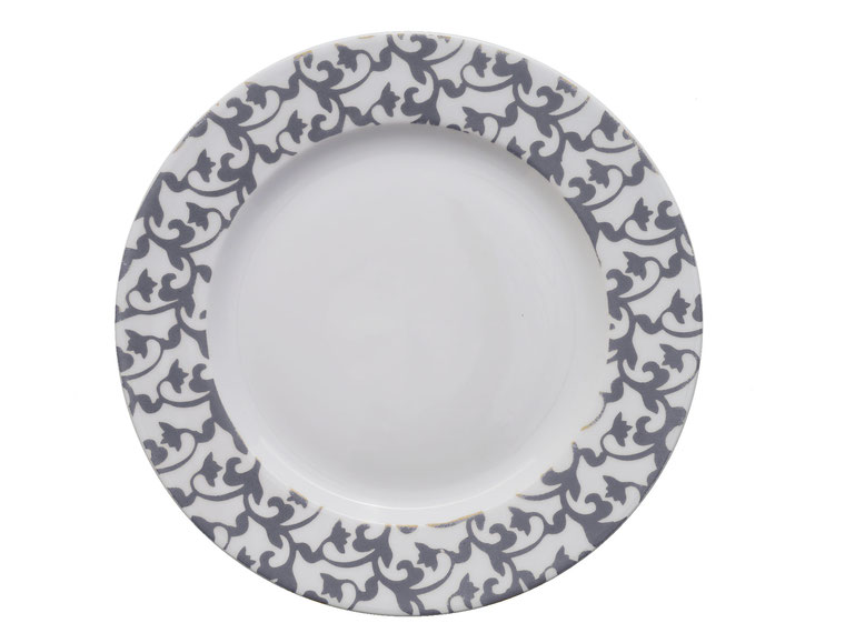 Nara Porcelaine peinte à la main - Trianon Assiette Empire Dessert Rose 80