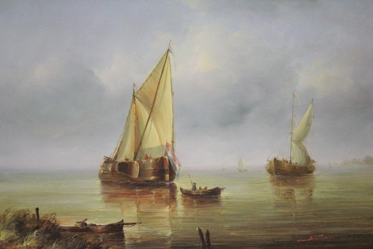 te_koop_aangeboden_een_marinegezicht_van_de_franse_kunstenaar_jean_michel_laurent_1898-1988