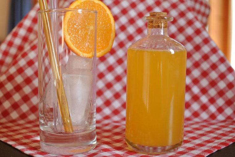 Grundrezept für selbstgemachten Sirup ohne Zucker für Limonade