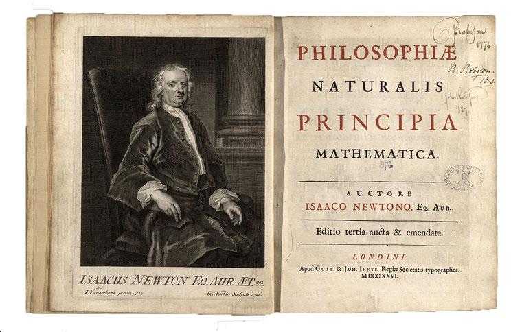 """""""I princìpi matematici di filosofia naturale"""" di  Isaac Newton"""