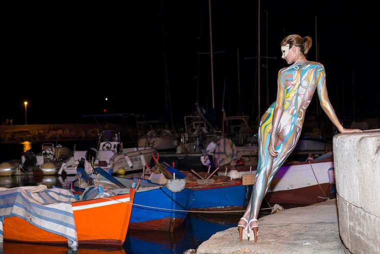 Body painting by Massimo Nardi