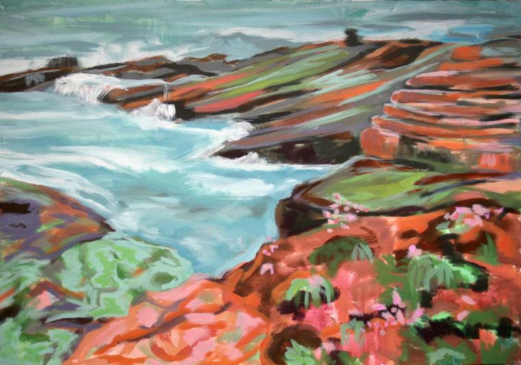 Coast II, 2017 Acryl auf Leinwand 80x116