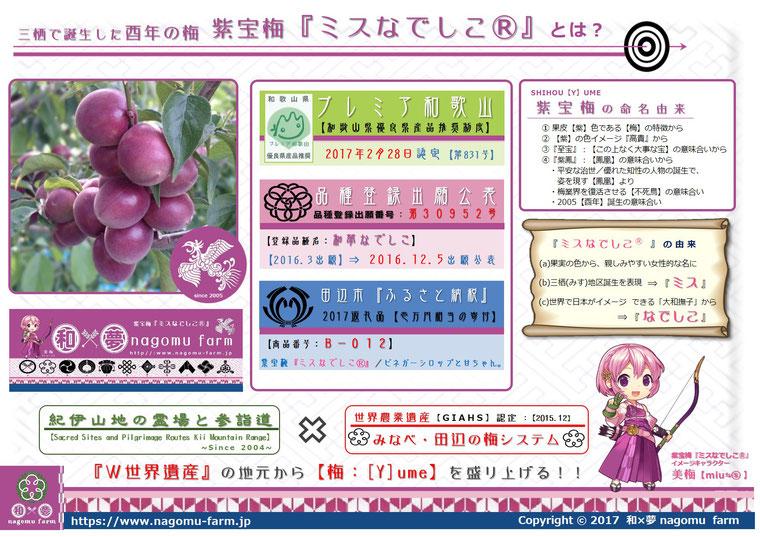 紫宝梅『ミスなでしこⓇ』3つの冠 和×夢 nagomu farm