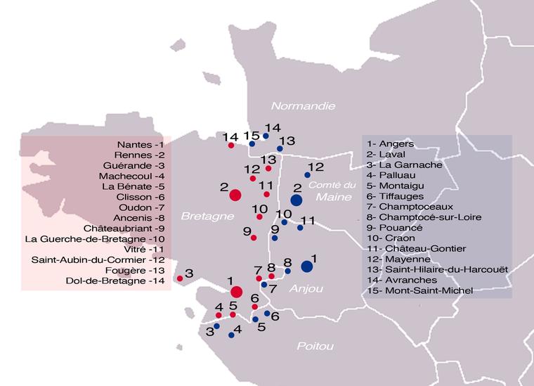 Châteaux des marches de Bretagne