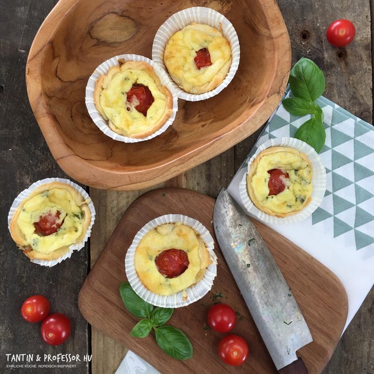 Tomaten-Quiche-Küchlein