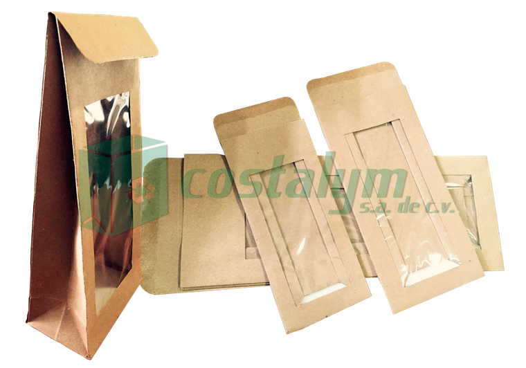 bolsas de papel kraft con sello de alambre