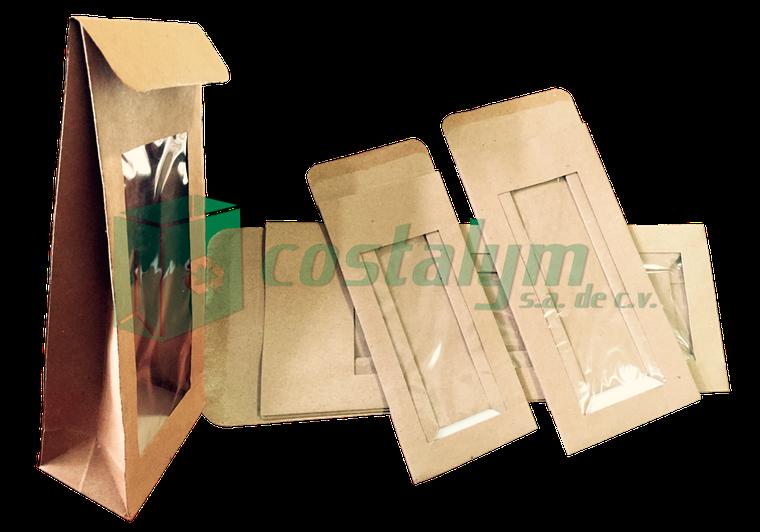 bolsas de papel kraft con sello de alambre