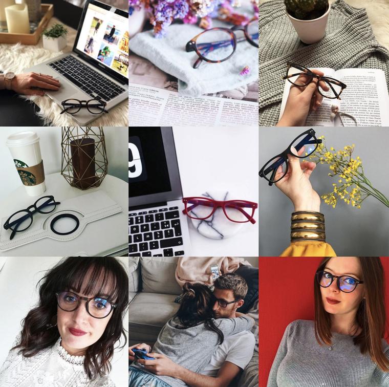 Instabombs pour la marque de lunettes Blueberry Glasses