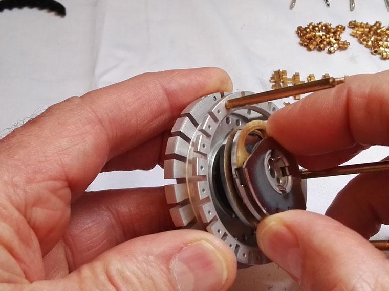 Montage du tambour de retenues