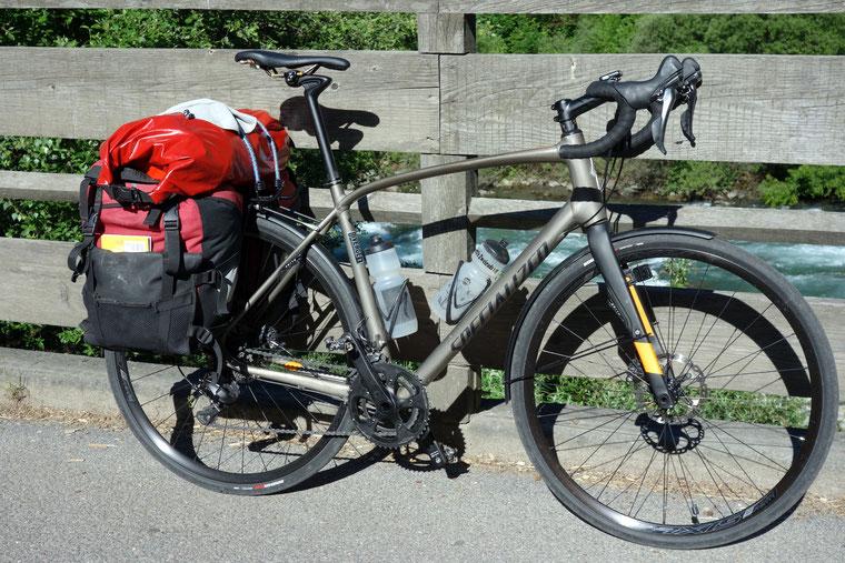 Specialized, Diverge, mit Gepäck