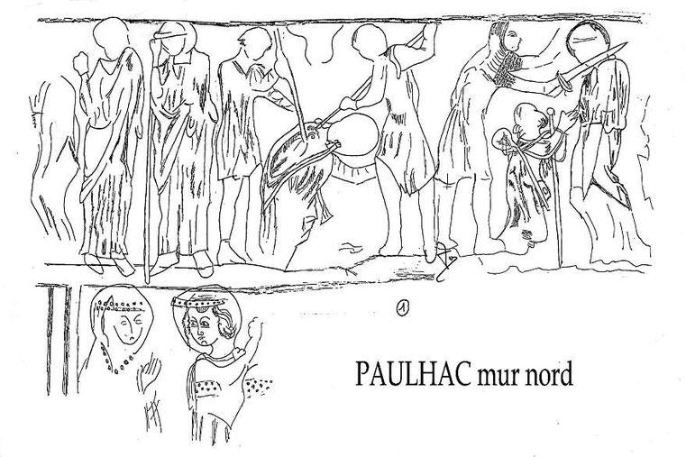Interprétation des fresques de Paulhac mur nord