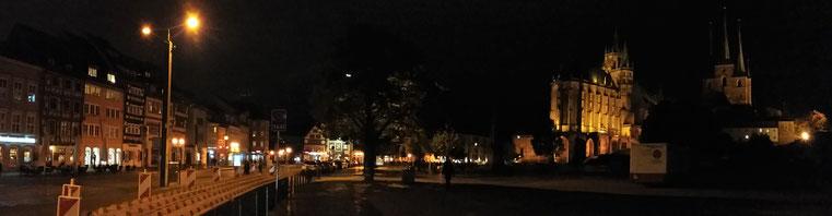 Das schöne Erfurt bei Nacht.