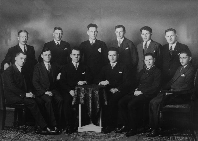 Bild-Gründungsmitglieder des Sängerbundes Staig