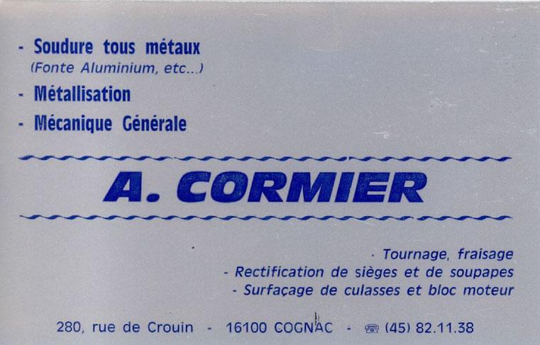 CARTE DE VISITE DU FONDATEUR ANDRE CORMIER