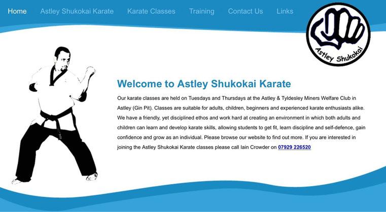 Click on the Astley Shukokai badge