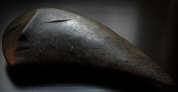 Heidrun Feistner: Mond Neumond deine Sichel / für Inge Müller / Zweiter Stein / Foto HF