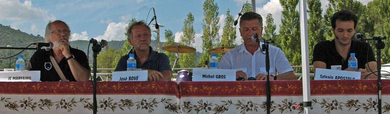 J.C.Marfaing, José Bové, Michel Gros, Sylvain Apostolo