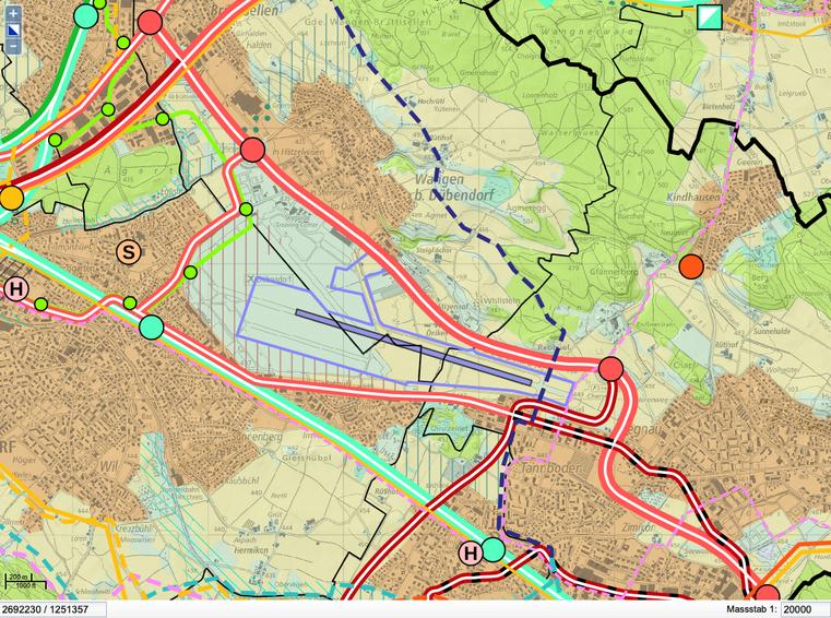Kantonaler Richtplan: Teilrevision 2020 | Quelle GIS ZH