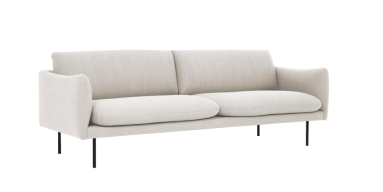 Sofa Moby (3-Sitzer), Farbe Beige