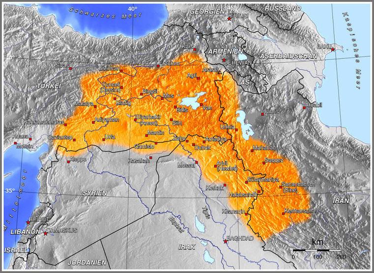 #  Kurdistan map