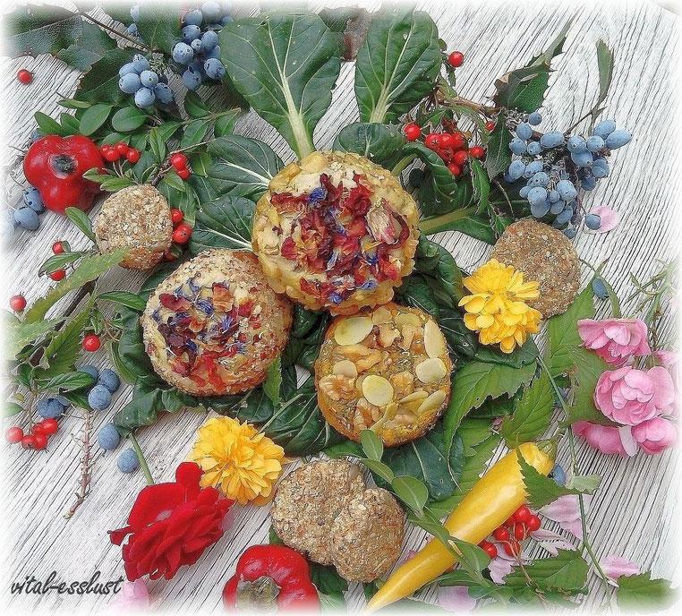 fermentierter Rohkostkäse mit Blüten